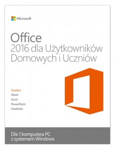 Microsoft Office Home and Student 2016 Win PL EuroZone Mlk